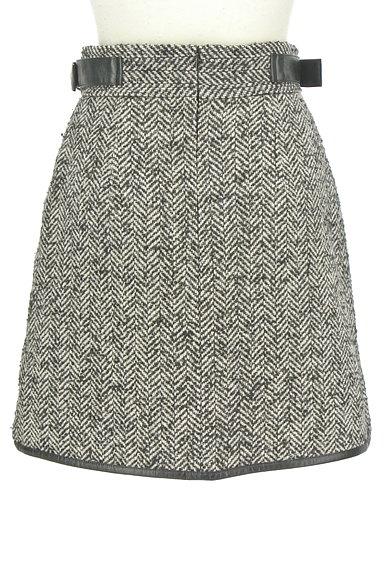 JILLSTUART(ジルスチュアート)の古着「ヘリンボーン柄スリットミニスカート(ミニスカート)」大画像2へ