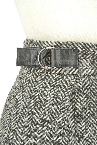 JILLSTUART(ジルスチュアート)の古着「ヘリンボーン柄スリットミニスカート(ミニスカート)」大画像4へ