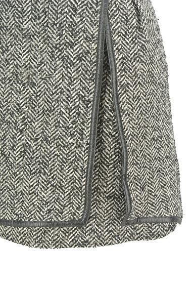 JILLSTUART(ジルスチュアート)の古着「ヘリンボーン柄スリットミニスカート(ミニスカート)」大画像5へ