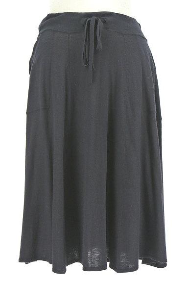 HUMAN WOMAN(ヒューマンウーマン)の古着「膝下丈ニットフレアスカート(スカート)」大画像1へ