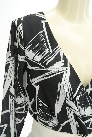 MILLION CARATS(ミリオンカラッツ)の古着「バイカラーベルト付カシュクールワンピ(ワンピース・チュニック)」大画像4へ