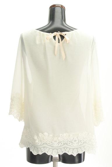 STRAWBERRY-FIELDS(ストロベリーフィールズ)の古着「裾刺繍フレアシフォンニット(カットソー・プルオーバー)」大画像2へ