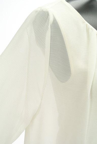 STRAWBERRY-FIELDS(ストロベリーフィールズ)の古着「裾刺繍フレアシフォンニット(カットソー・プルオーバー)」大画像4へ
