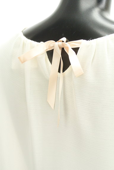 STRAWBERRY-FIELDS(ストロベリーフィールズ)の古着「裾刺繍フレアシフォンニット(カットソー・プルオーバー)」大画像5へ