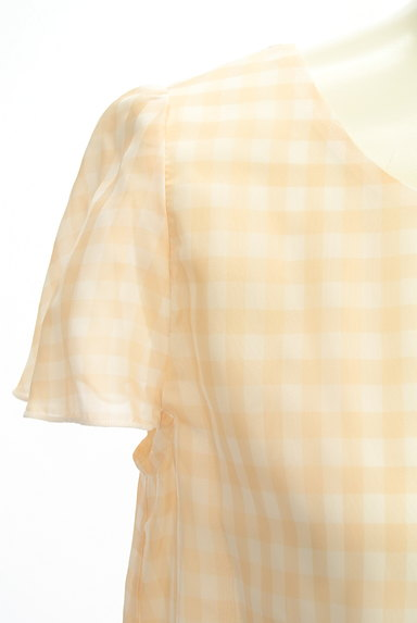 STRAWBERRY-FIELDS(ストロベリーフィールズ)の古着「フレアスリーブシフォンブラウス(カットソー・プルオーバー)」大画像4へ