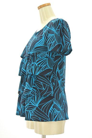 7-ID concept(セブンアイディーコンセプト)の古着「花柄ティアードフリルカットソー(カットソー・プルオーバー)」大画像3へ