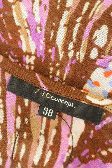 7-ID concept(セブンアイディーコンセプト)の古着「ボタニカル柄シフォンチュニック(ワンピース・チュニック)」大画像6へ