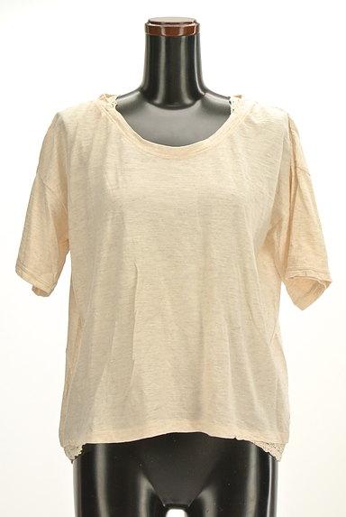 CUBE SUGAR(キューブシュガー)の古着「レースアクセントカットソー(Tシャツ)」大画像1へ