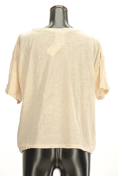 CUBE SUGAR(キューブシュガー)の古着「レースアクセントカットソー(Tシャツ)」大画像2へ
