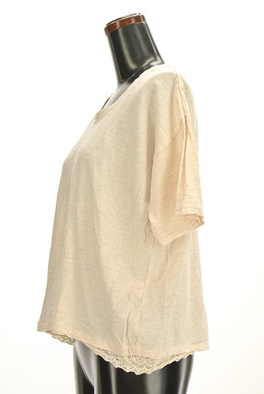CUBE SUGAR(キューブシュガー)の古着「レースアクセントカットソー(Tシャツ)」大画像3へ