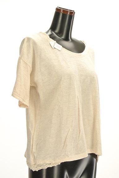 CUBE SUGAR(キューブシュガー)の古着「レースアクセントカットソー(Tシャツ)」大画像4へ