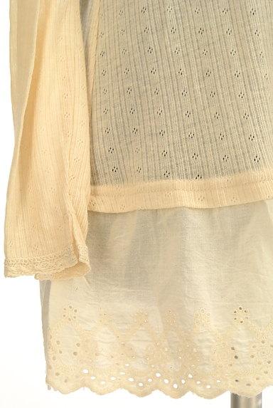CUBE SUGAR(キューブシュガー)の古着「裾コットンレースロングフレアニット(ニット)」大画像5へ