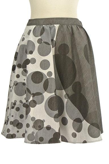 LAUTREAMONT(ロートレアモン)の古着「ドット柄膝丈フレアスカート(スカート)」大画像1へ