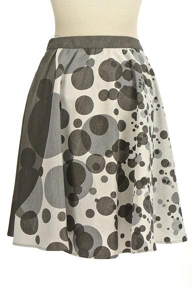 LAUTREAMONT(ロートレアモン)の古着「ドット柄膝丈フレアスカート(スカート)」大画像2へ