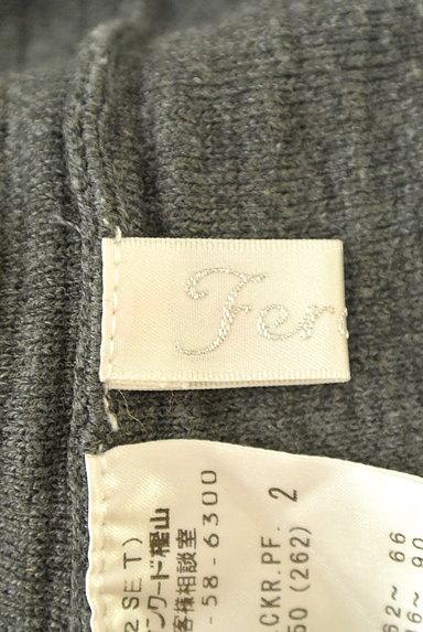 Feroux(フェルゥ)の古着「ニット編地サーキュラースカート(ミニスカート)」大画像6へ