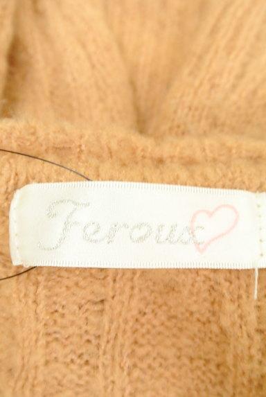 Feroux(フェルゥ)の古着「パールビジューネックケーブルニット(ニット)」大画像6へ