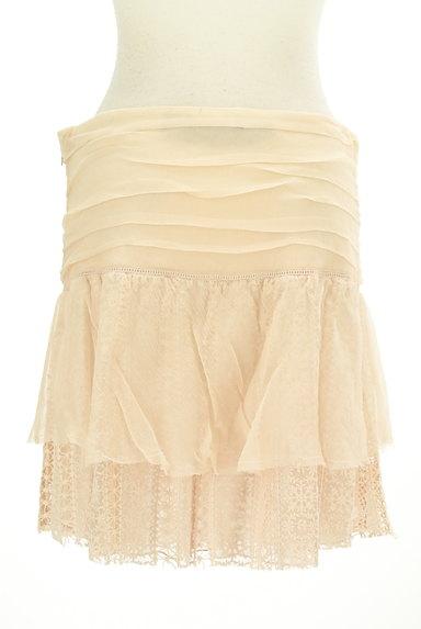 PATRIZIA PEPE(パトリッツィアペペ)の古着「刺繍シフォンレースミニスカート(ミニスカート)」大画像2へ