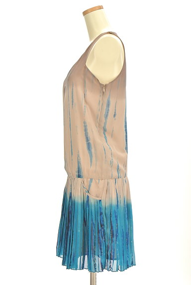 PATRIZIA PEPE(パトリッツィアペペ)の古着「グラデカラープリーツワンピース(ワンピース・チュニック)」大画像3へ