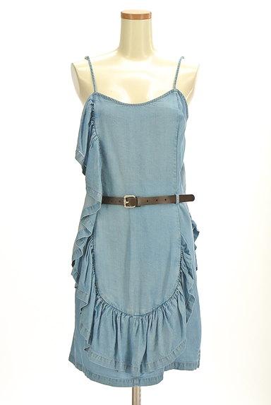 PATRIZIA PEPE(パトリッツィアペペ)の古着「変形フリルデニム風キャミワンピ(キャミワンピース)」大画像1へ