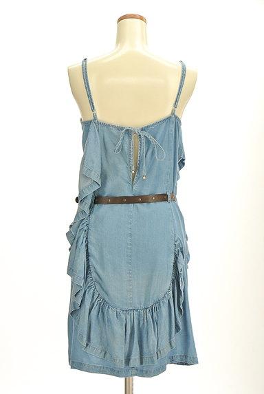 PATRIZIA PEPE(パトリッツィアペペ)の古着「変形フリルデニム風キャミワンピ(キャミワンピース)」大画像2へ