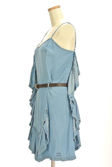 PATRIZIA PEPE(パトリッツィアペペ)の古着「変形フリルデニム風キャミワンピ(キャミワンピース)」大画像3へ
