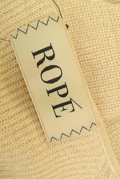ROPE(ロペ)の古着「ゴールドラメ糸Vネックニット(ニット)」大画像6へ