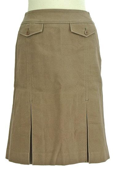 INDIVI(インディヴィ)の古着「裾タックセミフレアスカート(スカート)」大画像1へ