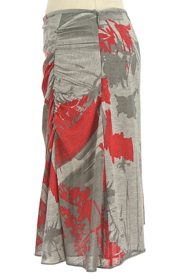 PHILOSOPHY DI ALBERTA FERRETTI(フィロソフィーアルベルタフィレッティ)の古着「総柄サイドギャザー膝丈スカート(スカート)」大画像3へ