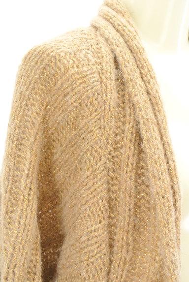 BEATRICE(ベアトリス)の古着「ロングラメニットカーディガン(カーディガン・ボレロ)」大画像4へ