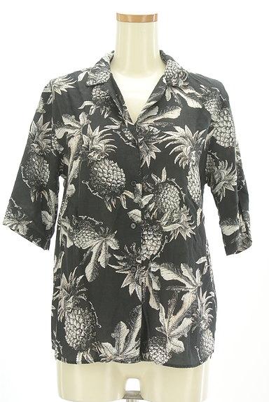 BARNYARDSTORM(バンヤードストーム)の古着「ボタニカル柄オープンカラーシャツ(カジュアルシャツ)」大画像1へ