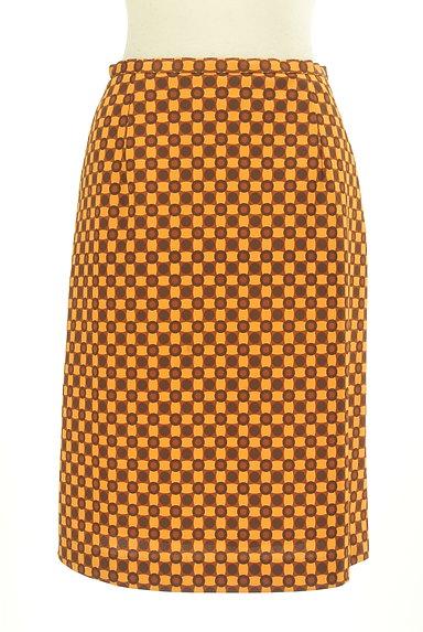 LUI CHANTANT(ルイシャンタン)の古着「総柄タイトひざ丈スカート(スカート)」大画像1へ