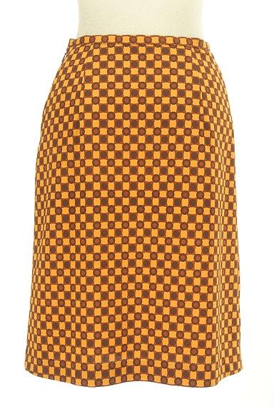 LUI CHANTANT(ルイシャンタン)の古着「総柄タイトひざ丈スカート(スカート)」大画像2へ