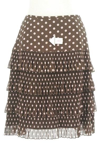 MISS J(ミスジェイ)の古着「ティアードドット柄スカート(スカート)」大画像4へ