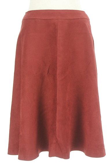 INDIVI(インディヴィ)の古着「スウェード風フレアスカート(スカート)」大画像1へ