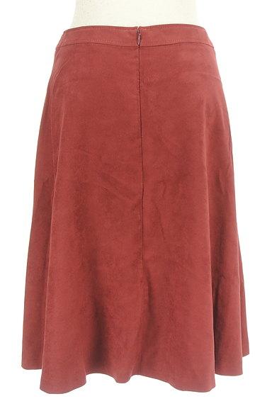 INDIVI(インディヴィ)の古着「スウェード風フレアスカート(スカート)」大画像2へ