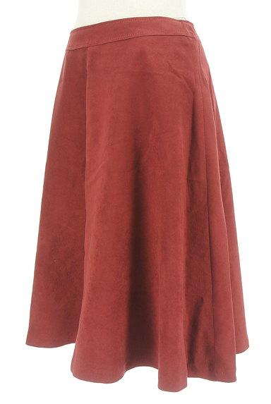 INDIVI(インディヴィ)の古着「スウェード風フレアスカート(スカート)」大画像3へ