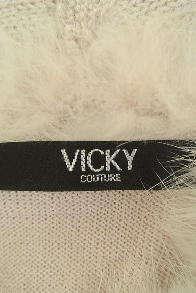 VICKY(ビッキー)の古着「ファーネックロングニットトップス(ニット)」大画像6へ