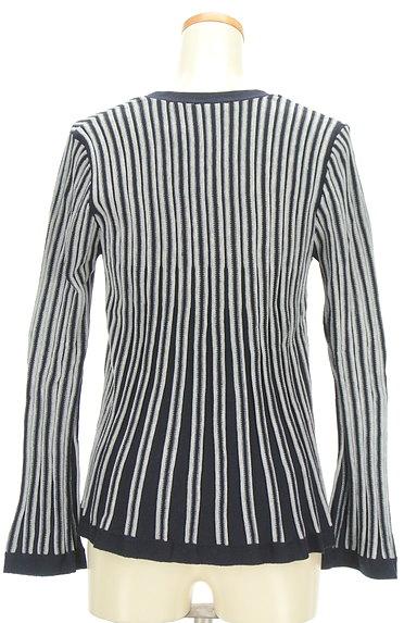 NARA CAMICIE(ナラカミーチェ)の古着「フレアストライプカーディガン(カーディガン・ボレロ)」大画像2へ