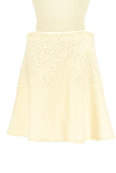 Te chichi(テチチ)の古着「総レースフレアニットスカート(ミニスカート)」大画像1へ