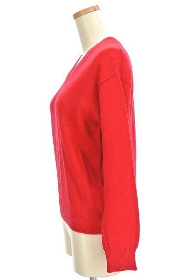 MOUSSY(マウジー)の古着「Vネックカラーニットトップス(セーター)」大画像3へ