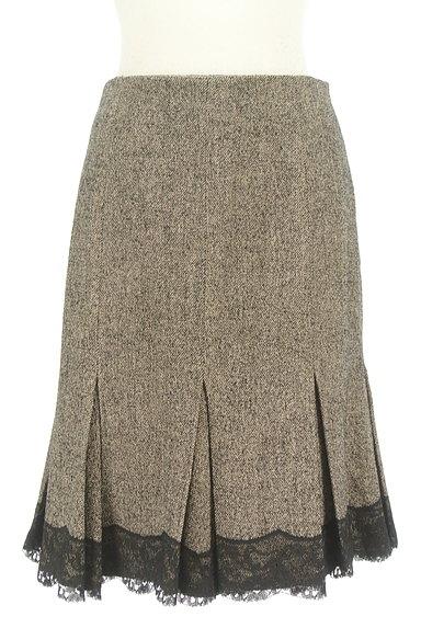 STRAWBERRY-FIELDS(ストロベリーフィールズ)の古着「タックレース裾マーメイドスカート(スカート)」大画像1へ