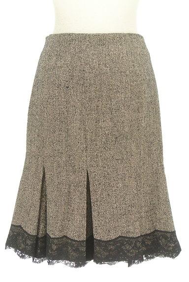 STRAWBERRY-FIELDS(ストロベリーフィールズ)の古着「タックレース裾マーメイドスカート(スカート)」大画像2へ
