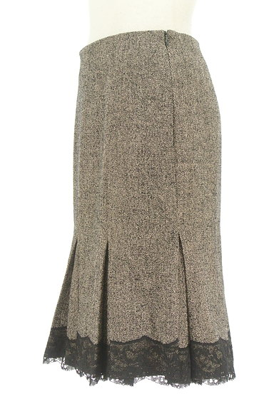 STRAWBERRY-FIELDS(ストロベリーフィールズ)の古着「タックレース裾マーメイドスカート(スカート)」大画像3へ