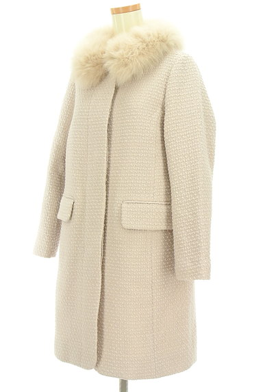 anatelier(アナトリエ)の古着「ファー襟付きロングウールコート(コート)」大画像3へ