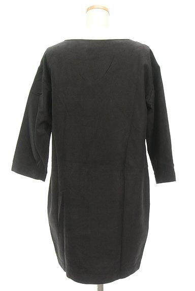 Banner Barrett(バナーバレット)の古着「七分袖スエードコクーンワンピース(ワンピース・チュニック)」大画像2へ
