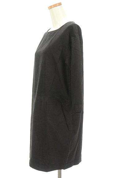 Banner Barrett(バナーバレット)の古着「七分袖スエードコクーンワンピース(ワンピース・チュニック)」大画像3へ