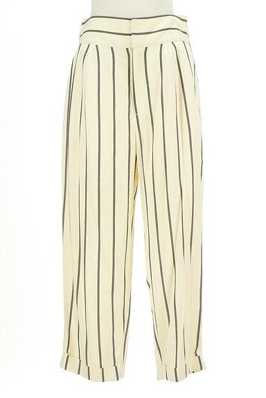 MOUSSY(マウジー)の古着「ストライプ柄テーパードパンツ(パンツ)」大画像1へ