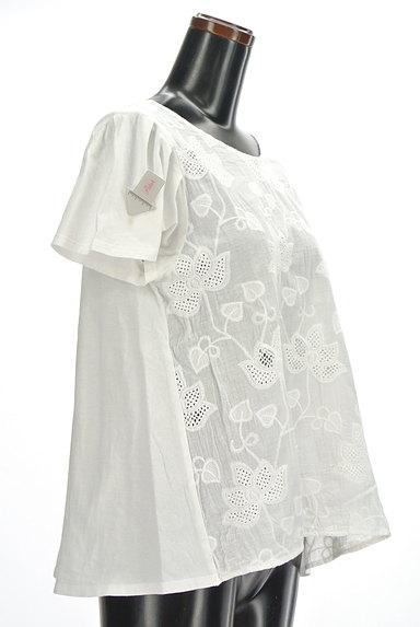 studio CLIP(スタディオクリップ)の古着「花刺繍切替シアーカットソー(カットソー・プルオーバー)」大画像4へ