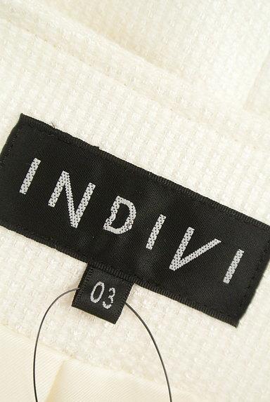 INDIVI(インディヴィ)の古着「微光沢ノーカラージャケット(ジャケット)」大画像6へ