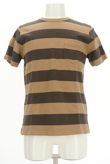 coen(コーエン)の古着「ポケット付きボーダーTシャツ(カットソー・プルオーバー)」大画像1へ